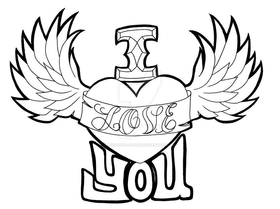 how to draw i love u