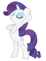 Rarity Drama Pose With Horn by LcPsycho