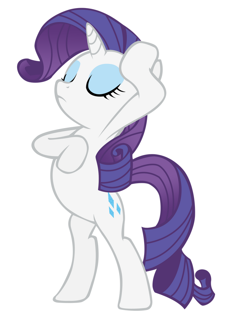 Rarity Drama Pose With Horn By Lcpsycho On Deviantart
