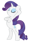 Rarity Drama Pose With Horn