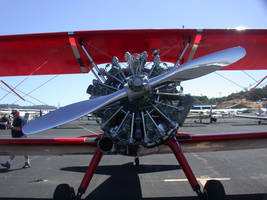 Stock Biplane Prop and Engine by Daturaemo