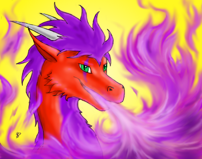 purple fire ! by Dracophilia