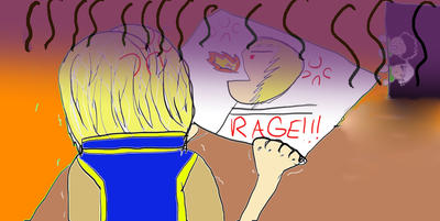 Rage Drawing by Blaze442