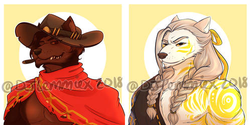 Commissions: Werewolf McHanzo by DJLemmiex