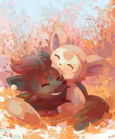 Zorua and Skitty by RileyKitty