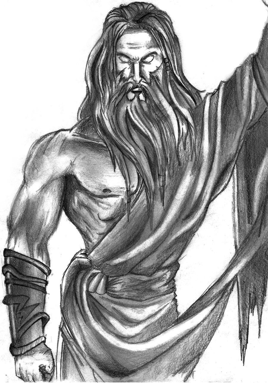 Zeus from God of War by RyanDionn on DeviantArt