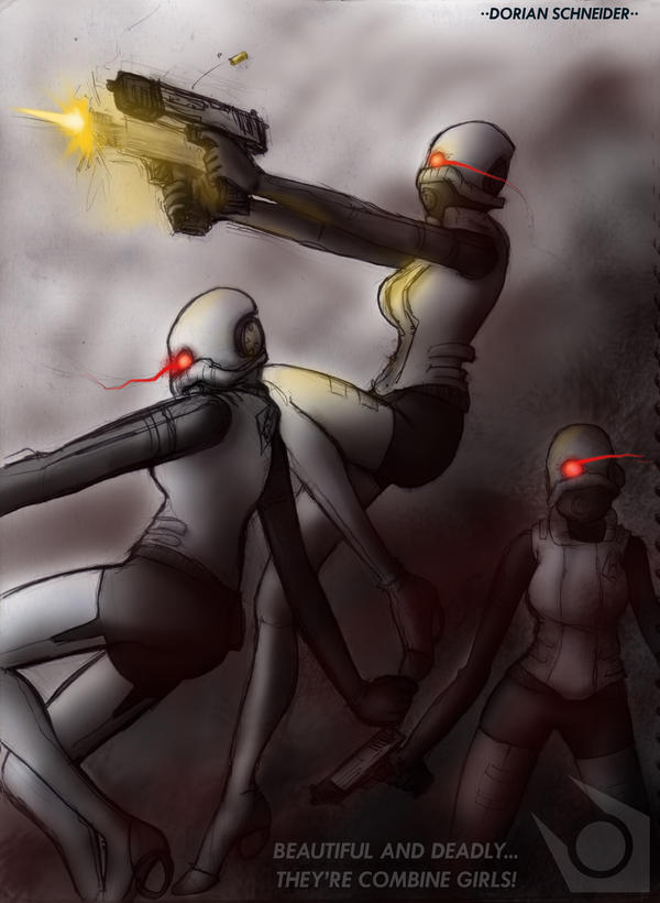 Combine gals 1 by LadyCat17