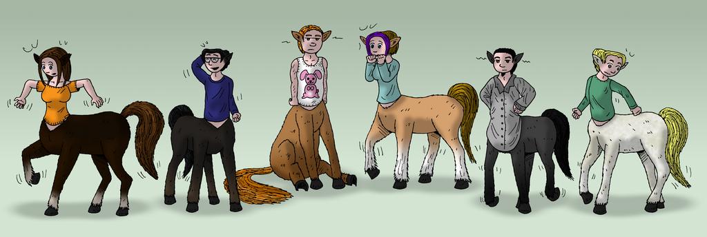 Centaurs. Centaurs everywhere. by oldiblogg on DeviantArt