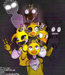 FNAF All the Chicas (COLORED)