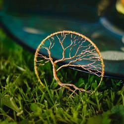 Windy - wire tree pendant