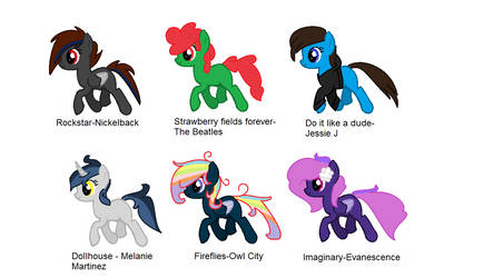 OPEN. MLP song adoptables (OTA or DTA) by lucagirlfly