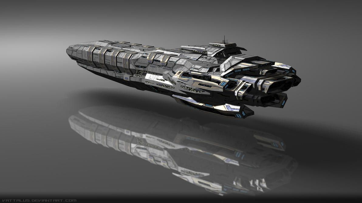 Capital Ship #1, Render 1 by Vattalus