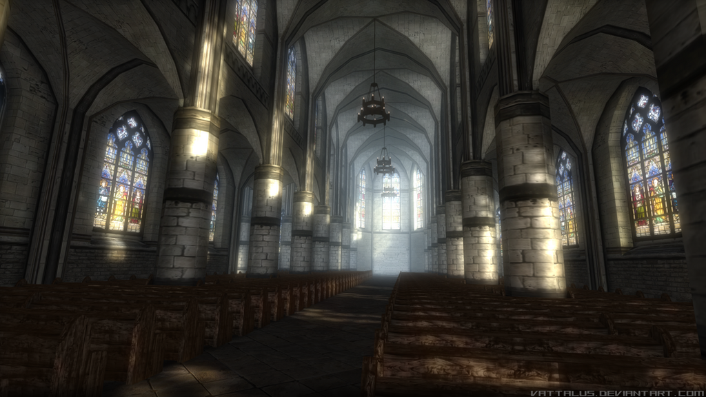 Gothic Church Interior Game Asset By Vattalus