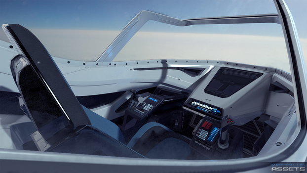 Scifi Futuristick Fighter Cockpit by Vattalus