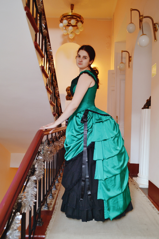 green bustle by Korff