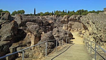 Italica Amphitheater - 01 by calasade