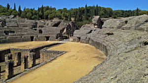 Italica Amphitheater - 04 by calasade