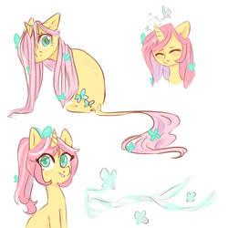 Fluttershy the unicorn by RinHedeaki