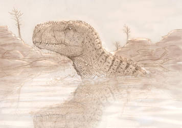 Rajasaurus by danieljoelnewman