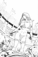 Red Sonja Gladitorial combat by Arciah