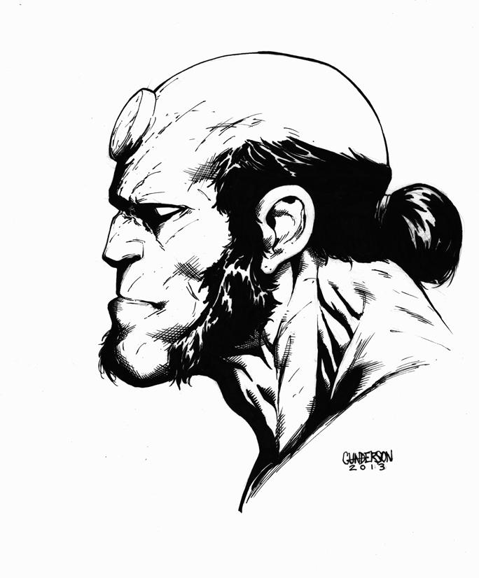 Hellboy Inks 2013 by Arciah