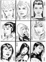 FCBD 2013 Sketch Cards by Arciah