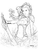 Phoenix Comicon Kiani commission by Arciah