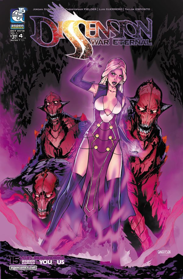 Dissension #4 cover colors by Arciah