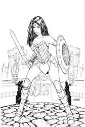 Wonder Woman 2019 inks by Arciah