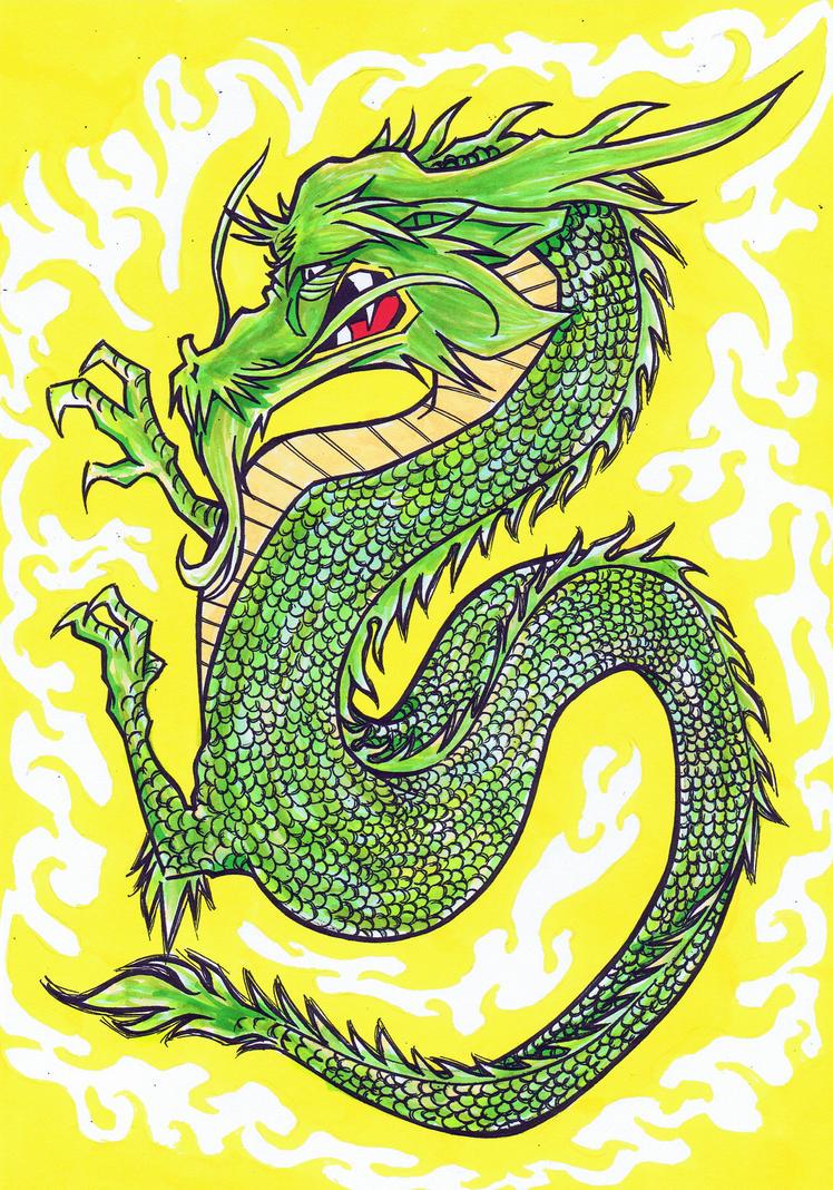 Japanese Dragon: Japanese Dragon Colour By RilesThornus On DeviantArt