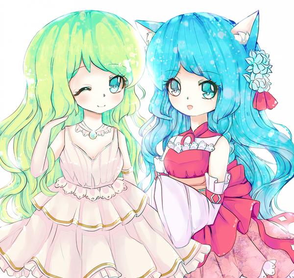 Ayami + Mira by foxypix