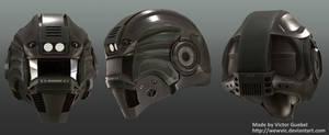 High Poly Green Helmet