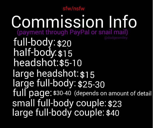 Smileyscommissioninfo/TOS by Dodgesmiley
