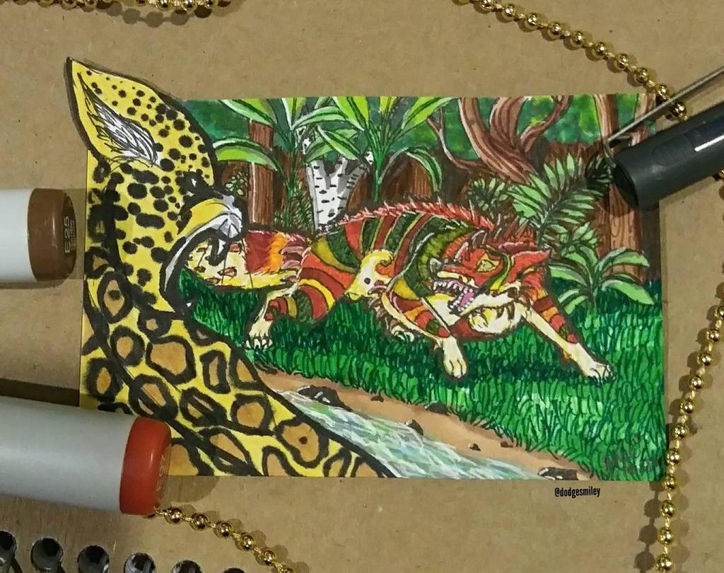 Enjeaux and the Jaguar by Dodgesmiley