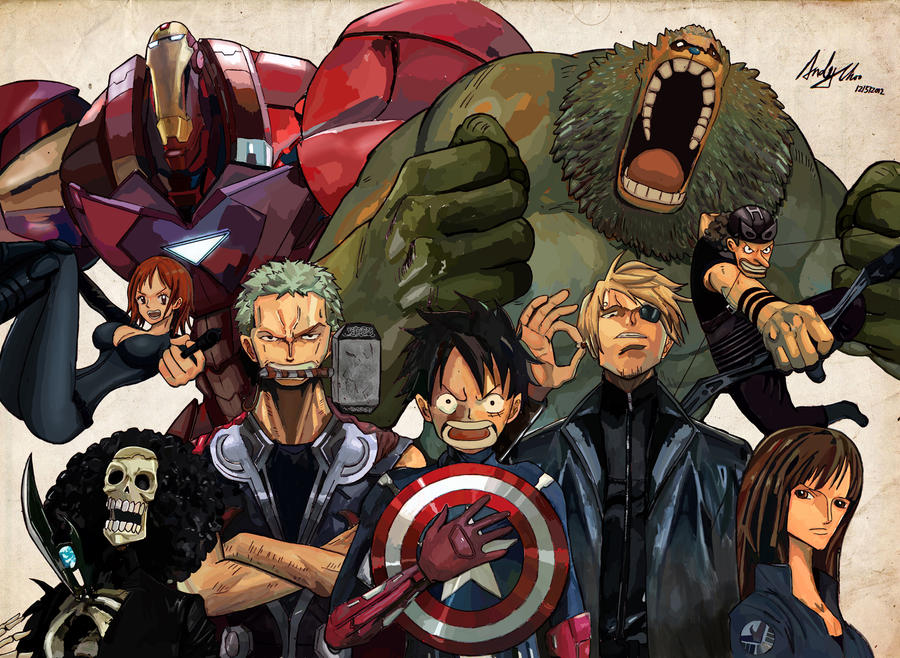 Post Awesome Stuff! One_piece_avengers_by_andimoo-d5d2llm