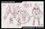 Frieza 3rd and 4th Form Concept Art Sketch