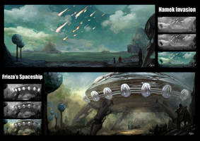 Namek Environment Concept Art by AndiMoo