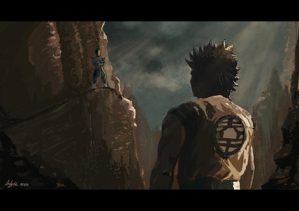 Goku VS Vegeta by AndiMoo
