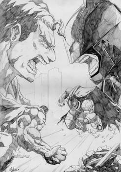Batman v superman pencils