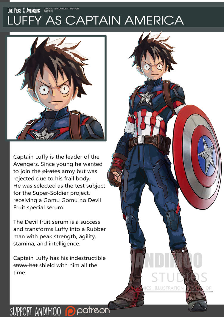 One Piece Avenger Captain Luffy 2016 By Andimoo On Deviantart