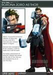 One Piece Avenger Rorona Zoro as Thor
