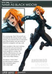 One Piece Avenger Nami as Black Widow