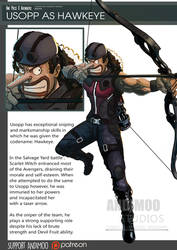 One Piece Avenger Usopp as Hawkeye by AndiMoo