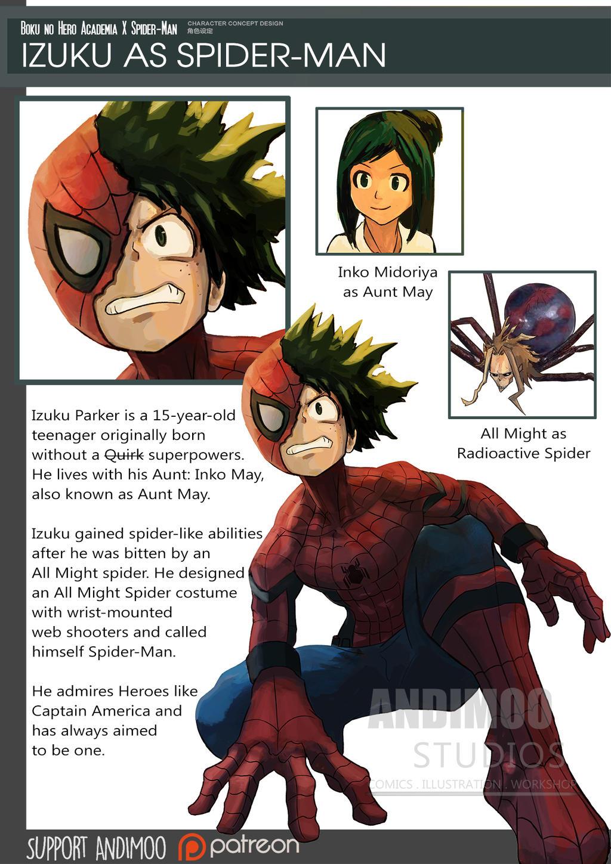 Izuku as Spider Man by AndiMoo on DeviantArt