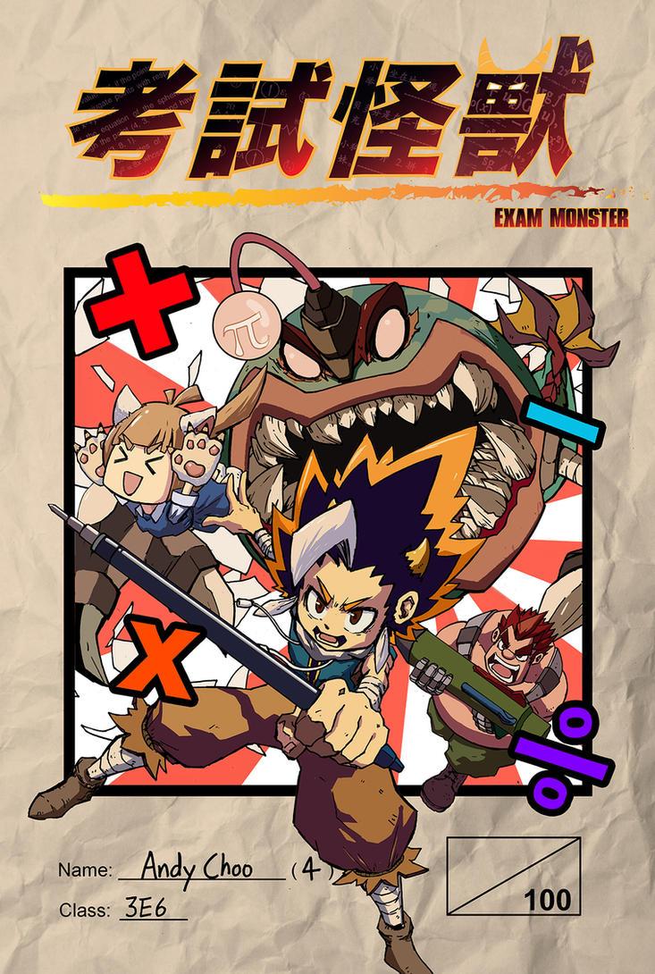Exam Monster Manga Cover by AndiMoo