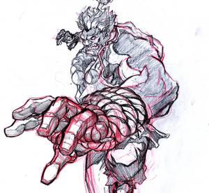 Akuma Shun Goku Satsu Sketch WIP