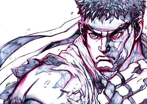 Street Fighter Ryu Sketch