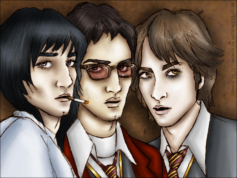 Sirius, James + Remus [collab] by tamerofhorses
