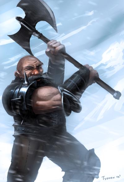 Dwarf Axeman by TyphonArt