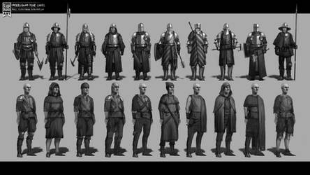 Guards and miners concept